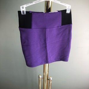 Purple Bodycon Skirt